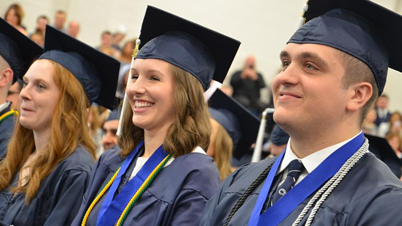Graduates at Penn State Altoona's spring 2019 Commencement Ceremony